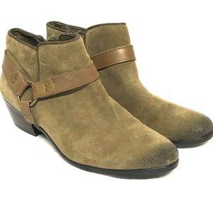 Sam Edelman khaki sued ankle boot